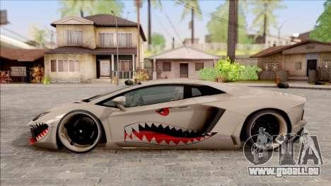 Lamborghini Aventador Shark New Edition White für GTA San Andreas linke Ansicht