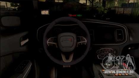 Dodge Charger Unmarked 2015 pour GTA San Andreas vue intérieure