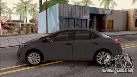 Toyota Corolla pour GTA San Andreas laissé vue