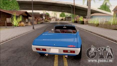 Plymouth GTX Cabrio 1972 pour GTA San Andreas sur la vue arrière gauche
