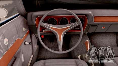 Plymouth GTX Cabrio 1972 pour GTA San Andreas vue intérieure