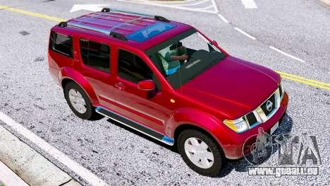 GTA 5 Nissan Pathfinder 2007 hinten links Seitenansicht