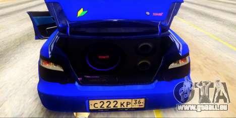 Subaru Impreza WRX STi 2004 (Virtual Diva) pour GTA San Andreas vue intérieure