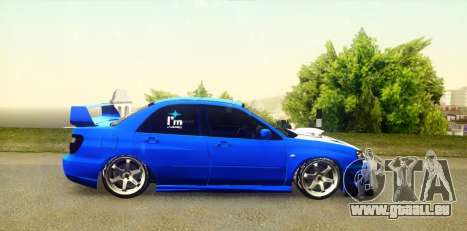 Subaru Impreza WRX STi 2004 (Virtual Diva) pour GTA San Andreas vue de droite