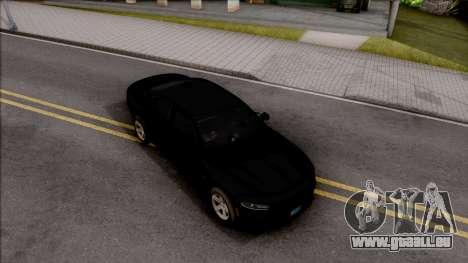 Dodge Charger Unmarked 2015 pour GTA San Andreas vue de droite