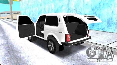 VAZ 2121 Armenian pour GTA San Andreas vue arrière