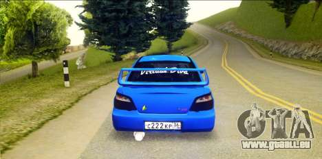 Subaru Impreza WRX STi 2004 (Virtual Diva) pour GTA San Andreas sur la vue arrière gauche