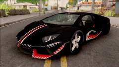 Lamborghini Aventador Shark New Edition Black pour GTA San Andreas