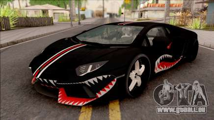 Lamborghini Aventador Shark New Edition Black für GTA San Andreas