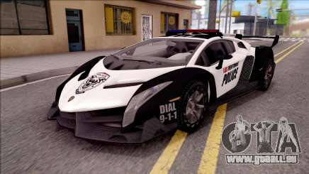 Lamborghini Veneno Police Las Venturas für GTA San Andreas
