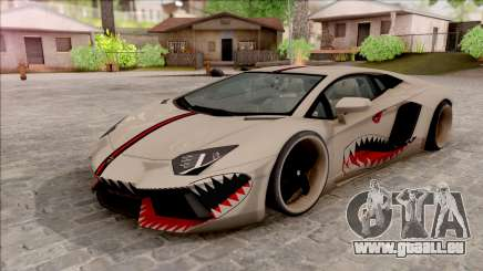 Lamborghini Aventador Shark New Edition White für GTA San Andreas
