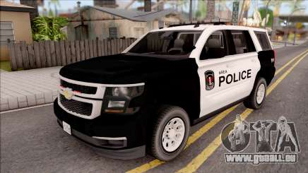 Chevrolet Tahoe 2015 Area Police Department für GTA San Andreas