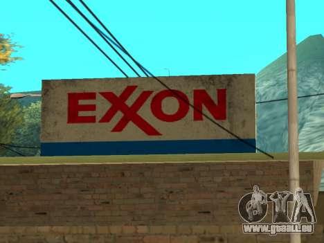 Exxon Gas Station für GTA San Andreas her Screenshot