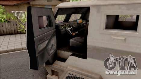 GTA EFLC HVY Brickade pour GTA San Andreas vue intérieure