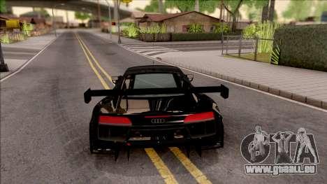 Audi R8 LMS pour GTA San Andreas sur la vue arrière gauche