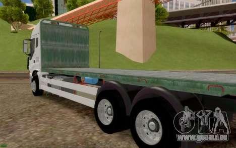Iveco Stralis Camion PAS EXTRAS pour GTA San Andreas sur la vue arrière gauche