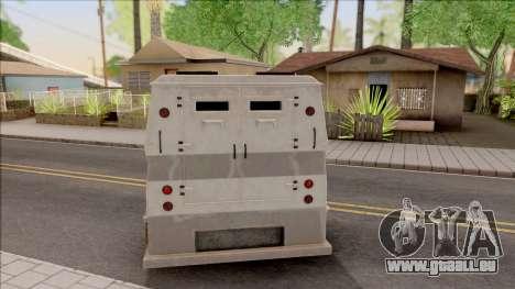 GTA EFLC HVY Brickade pour GTA San Andreas sur la vue arrière gauche