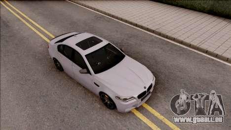 BMW M5 F10 Competition Edition pour GTA San Andreas vue de droite