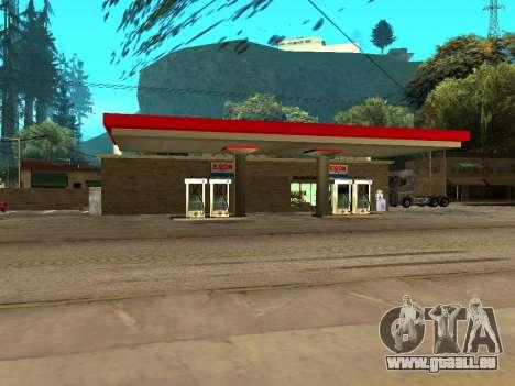 Exxon Gas Station für GTA San Andreas zweiten Screenshot
