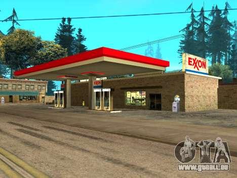 Exxon Gas Station für GTA San Andreas