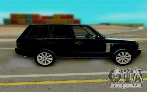 Land Rover Range Rover Supercharged für GTA San Andreas linke Ansicht