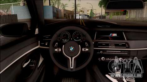 BMW M5 F10 Competition Edition pour GTA San Andreas vue intérieure