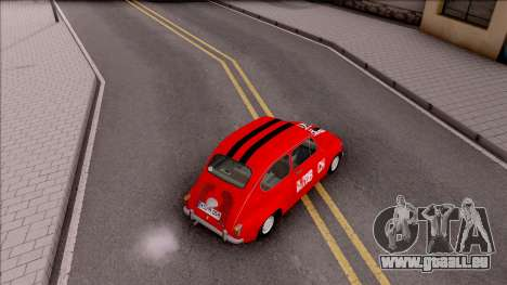 Zastava 750c pour GTA San Andreas vue arrière