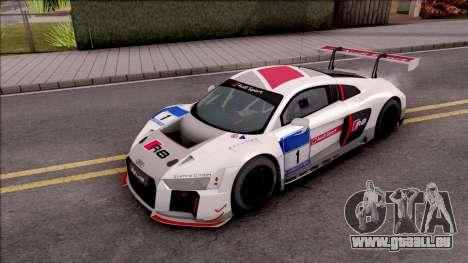Audi R8 LMS pour GTA San Andreas vue de dessous