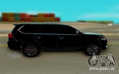 Lexus LX570 pour GTA San Andreas laissé vue