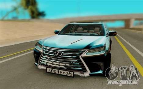 Lexus LX570 pour GTA San Andreas vue arrière