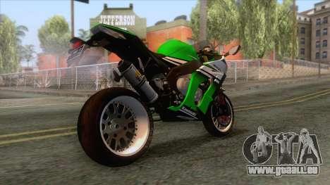 Kawasaki Ninja ZX-10R Ruff Ryder pour GTA San Andreas vue de droite