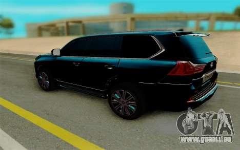Lexus LX570 pour GTA San Andreas vue de droite