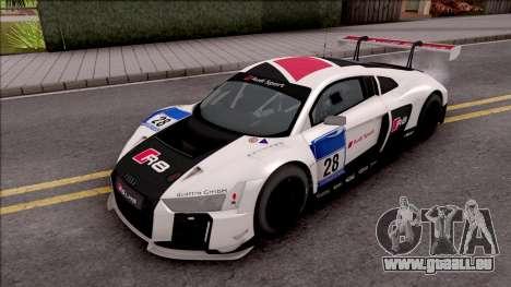Audi R8 LMS pour GTA San Andreas vue de dessus