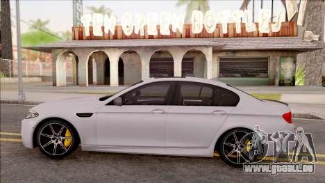 BMW M5 F10 Competition Edition pour GTA San Andreas laissé vue