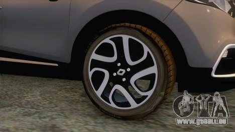 Renault Captur für GTA San Andreas Rückansicht