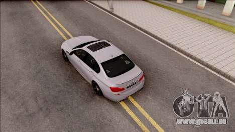 BMW M5 F10 Competition Edition pour GTA San Andreas vue arrière