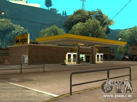 Agip Gas Station für GTA San Andreas her Screenshot