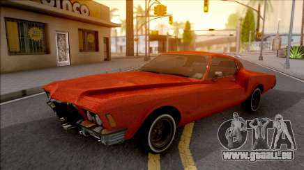 Buick Riviera 1972 Boattail Lowrider Red pour GTA San Andreas