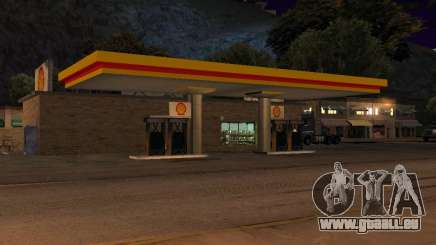 Shell Gas Station In Dillimore für GTA San Andreas