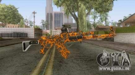 CoD: Black Ops II - AK-47 Lava Skin v1 für GTA San Andreas