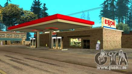 Exxon Gas Station für GTA San Andreas