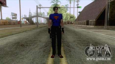 Leon Superman Cloth Skin für GTA San Andreas