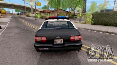 Chevrolet Caprice 1991 R.P.D. für GTA San Andreas zurück linke Ansicht