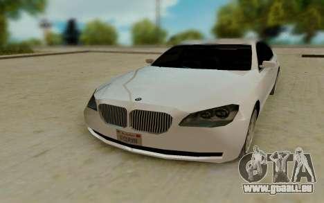 BMW 7 Series 750Li xDrive pour GTA San Andreas vue arrière