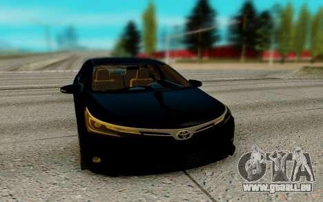 Toyota Corolla 2017 pour GTA San Andreas