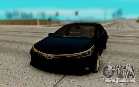 Toyota Corolla 2017 pour GTA San Andreas vue arrière
