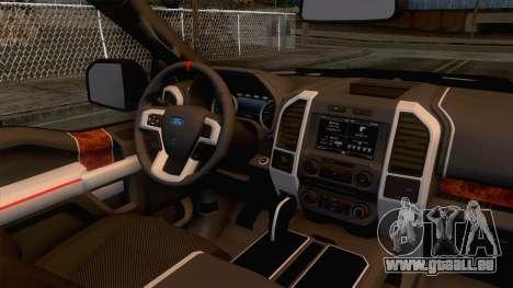 Ford Raptor 2017 Race Truck pour GTA San Andreas vue intérieure