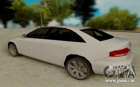 Audi A4 pour GTA San Andreas sur la vue arrière gauche