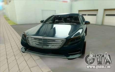 Mercedes S500 W222 pour GTA San Andreas vue arrière
