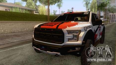 Ford Raptor 2017 Race Truck pour GTA San Andreas vue de côté
